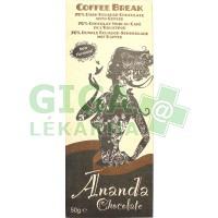 Coffee Break hořká čokoláda s kávou 50g-BIO