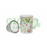 Oxalis Herbs Zahrádka 0,25 l - porcelánový hrnek s filtrem