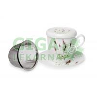 Oxalis Levandule 0,33l - porc. hrnek s filtrem a podšálkem