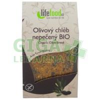 Lifefood Nepečené VITA placky s olivami BIO 90g