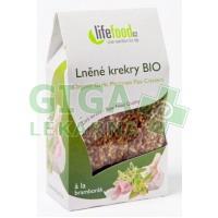 Lifefood Lněné krekry BIO bramborákové 90g