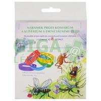 Náramek proti klíšťatům a hmyzu na přírodní bázi levandulový