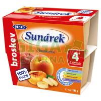 Sunárek ovocný příkrm jablko-broskev 4x100g