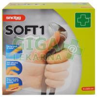 Náplast bez lepidla elast.Soft1 6cmx5m tělová MSM
