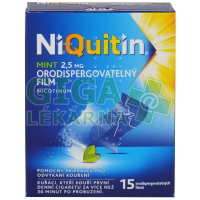 NiQuitin Mint 2.5mg 15 orodisperzních filmů