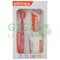 Elmex dětská zubní pasta+kartáček 3-6 let+kelímek