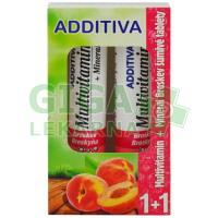 Additiva duopack 1+1 broskev 20+20 šumivých tbl.