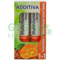 Additiva duopack 1+1 pomeranč 20+20 šumivých tbl.