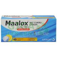 Maalox bez cukru Citron 40 tablet