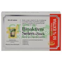 Bioaktivní Selen+Zinek 60 tablet+50% EXTRA