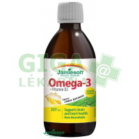 JAMIESON Omega-3+vit.D3 roztok přích.citrón 237ml