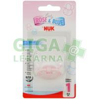 NUK Dudlík Růžový silikon V1 (0-6) 1ks