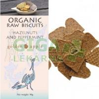 Bio raw krekery - lískové ořechy a máta 90g