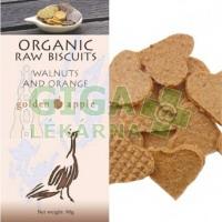 Bio raw krekery - vlašské ořechy a pomeranč 90g