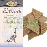 Bio raw krekery - vlašské ořechy a rozmarýn 90g