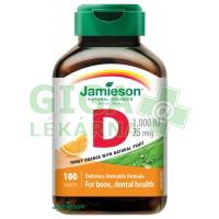 JAMIESON Vit.D3 1000IU cucací pomeranč tbl.100