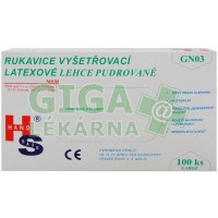 Rukavice vyš.latexové MSM L/100ks GN03ND