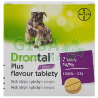 Drontal Plus flavour 2 tablety pro psy