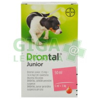 Drontal JUNIOR 50ml s aplikátorem pro psy