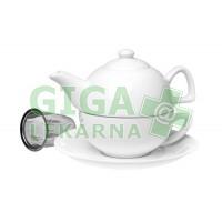 Oxalis Anita - keramický tea for one se sítkem