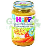 HiPP JUNIOR MENU BIO Zelenina s těstovinami a šunkou 220g