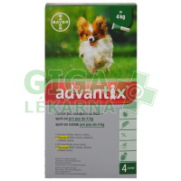 Advantix pro psy spot on dog do 4kg 4x0,4ml
