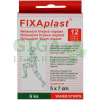 Náplast Fixaplast hřejivá relaxač.WARM STRIPS 6ks