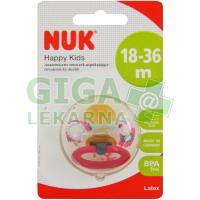 NUK Dudlík HAPPY KIDS latex V3(18+)