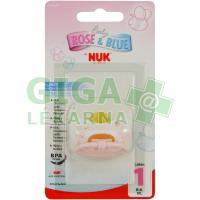 NUK Dudlík Růžový latex V1 (0-6) 1ks