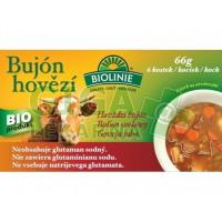 Biolinie bujón hovězí 66g - kostky 6x0,5l