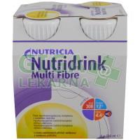 Nutridrink Multi Fibre 4x200ml Vanilka