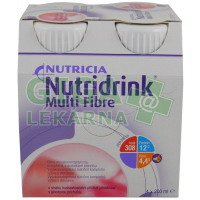 Nutridrink Multi Fibre 4x200ml Jahoda