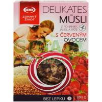 Delikates Müsli s červeným ovocem 280g Semix