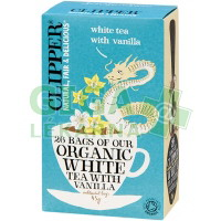 Čaj Clipper organic white tea + Vanilla 25x2g
