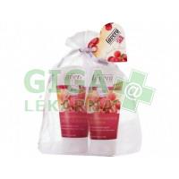 Bio brusinka a arganový olej - dárkový set (Tělové mléko+sprchový gel)
