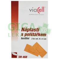 VIACELL SN468 Náplast s polštářkem 8x4cm 3ks
