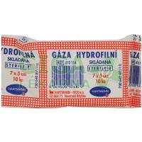 Gáza hydrofilní skládaná 7x5cm 10ks sterilní