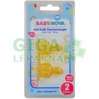 BABY NOVA savička latex tvarovaná mléko č.2 2ks