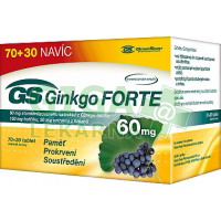 GS Ginkgo Forte 60mg tablety 70+30