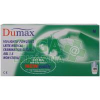 DUMAX vyšetřovací latexové nesterilní pudrované rukavice M 100ks