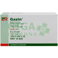 Gáza hydrofilní skládaná komprese sterilní Gazin 5x5cm 100ks