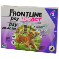 Frontline Tri-Act psi 20-40kg spot-on 3x1 pipeta