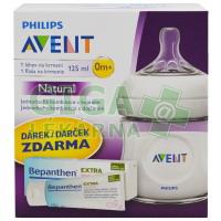 AVENT Láhev Natural 125ml (PP)+Bepanthen 30g