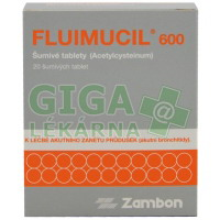 Fluimucil 600 por.tbl.eff.20x600mg