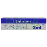 Injekční stříkačka Chirana 2ml 100ks