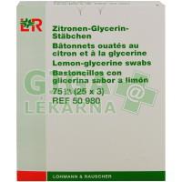 Vatová tyčinka s glycerinem Lemogil15cm/75ks