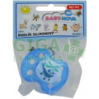 BABY NOVA dudlík silikon tvarovaný dekor č.1