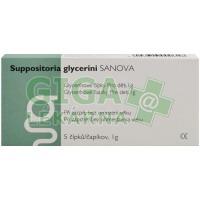 Suppositoria glycerini SANOVA Glycerinové čípky Děti 1g 5ks