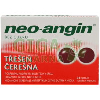 Neo-angin bez cukru Třešeň pastilky 24