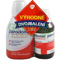 Parodontax úst.voda Extra0.2% 300ml+Parodont.500ml